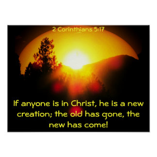 In Christ you are a New Creation Poster