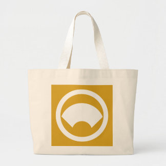 In circle area paper large tote bag