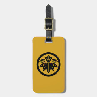 In circle bamboo grass dragon gallbladder luggage tag