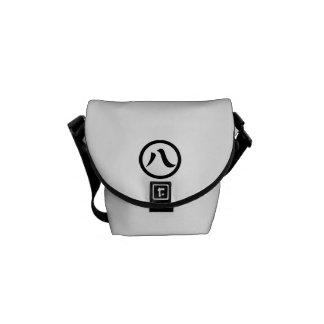 In circle eight letters messenger bag