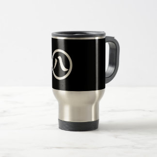 In circle eight letters travel mug