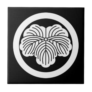 In circle ivy ceramic tile