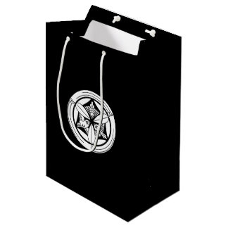In circle of bamboo three feather sparrow medium gift bag