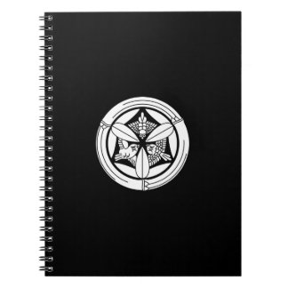 In circle of bamboo three feather sparrow spiral notebook