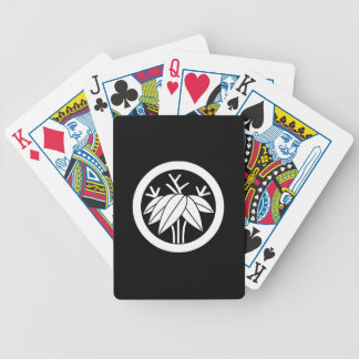 In circle root bamboo grass bicycle playing cards