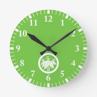 In circle root bamboo grass round clock