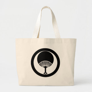 In circle round fan large tote bag