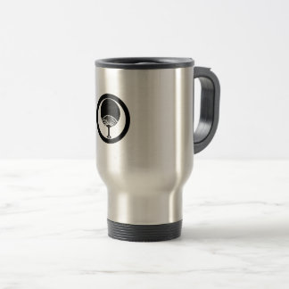 In circle round fan travel mug