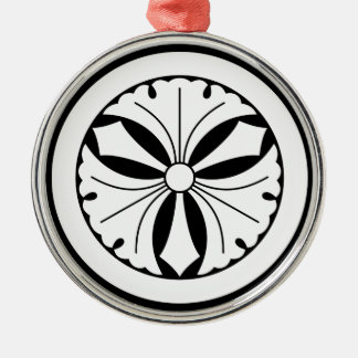In circle sword three ginkgo metal ornament