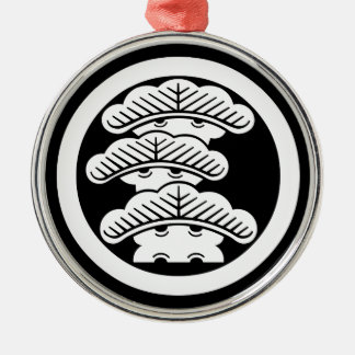 In circle the left three floor pine metal ornament