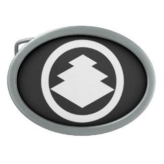 In circle three floor water caltrop oval belt buckles