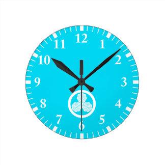 In circle three Kashiwa Round Clock