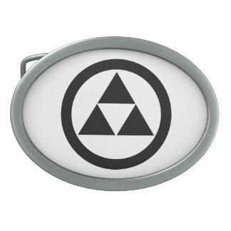 In circle three scales belt buckle