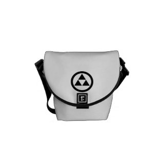 In circle three scales courier bag