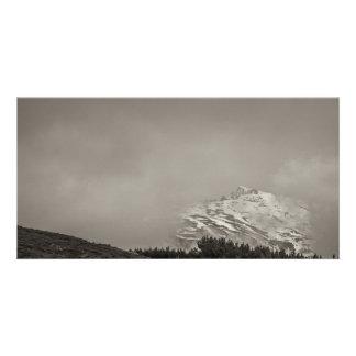 In clouds picture card