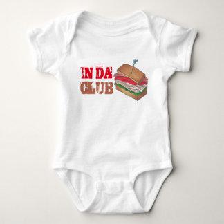 In Da Club Turkey Club Sandwich Funny Foodie Diner Baby Bodysuit
