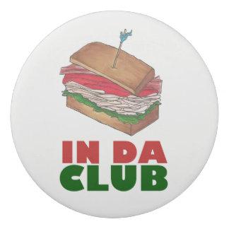 In Da Club Turkey Club Sandwich Funny Foodie Diner Eraser
