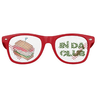 In Da Club Turkey Club Sandwich Funny Foodie Diner Retro Sunglasses
