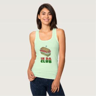 In Da Club Turkey Club Sandwich Funny Foodie Diner Singlet