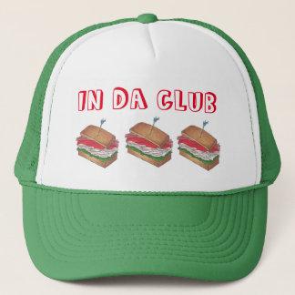 In Da Club Turkey Club Sandwich Funny Foodie Diner Trucker Hat