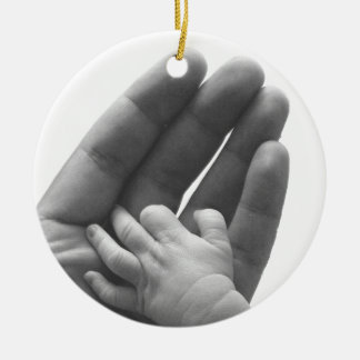 In Daddy's Hand Ceramic Ornament