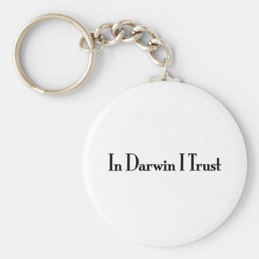 In Darwin I Trust Keychain