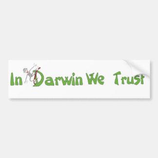 In Darwin We Trust Bumper Sticker