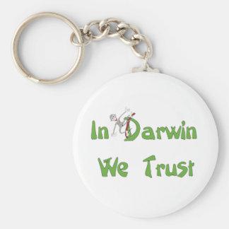 In Darwin We Trust Key Ring
