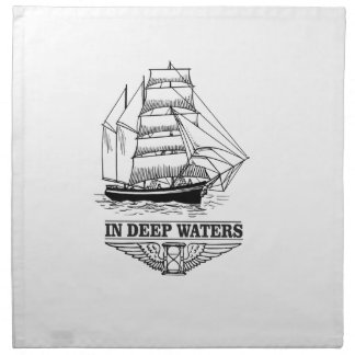 in deep water serious napkin