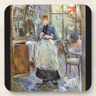 In Dining Room by Berthe Morisot Coasters
