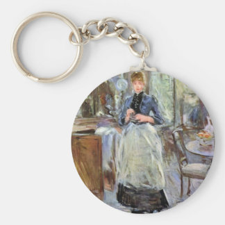 In Dining Room by Berthe Morisot Key Chain