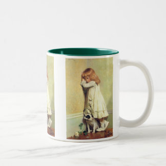 In Disgrace by Charles Burton Barber, Vintage Art Two-Tone Coffee Mug
