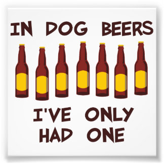 In Dog Beers I've Only Had One Photograph