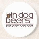 In Dog Beers (w/Mug) Drink Coasters