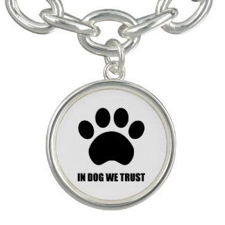 In Dog We Trust Charm Bracelet