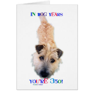 In Dog Years You're 350 Card