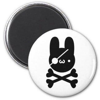 In Dokuganriyuu yu? Rabbit 髑 髏 6 Cm Round Magnet