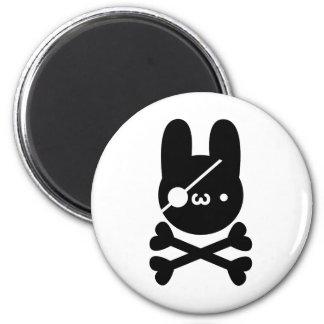 In Dokuganriyuu yu? Rabbit 髑 髏 6 Cm Round Magnet