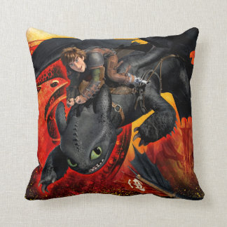 In Dragons We Trust Throw Pillow