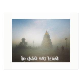 In dust we trust postcard