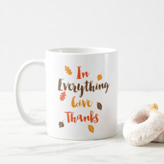 In Everything Give Thanks Autumn Leaves Mug