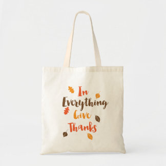 In Everything Give Thanks Autumn Leaves Tote Bag