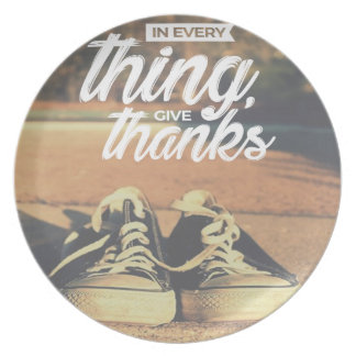 In Everything Give Thanks Plate