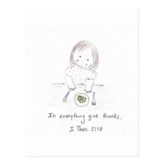 In everything give thanks postcard