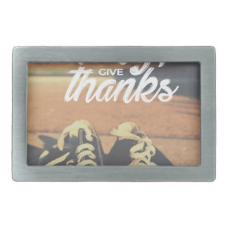 In Everything Give Thanks Rectangular Belt Buckle