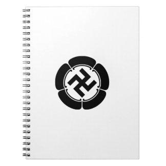 In five melons corner raising five dividing 萬 spiral notebook