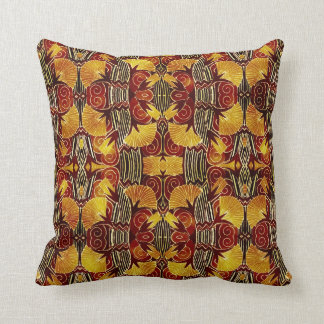 In Flames - Art Deco Pattern Cushion