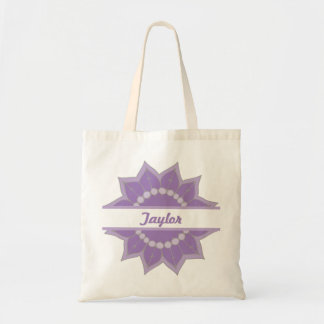 In Full Bloom Personalized Small Tote (Purple)