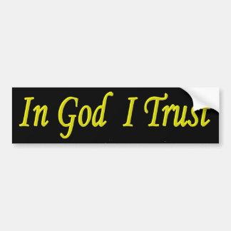 In God I Trust Bumper Sticker