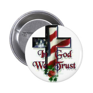 In God we trust 6 Cm Round Badge